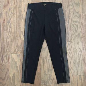 Thalia Sodi Faux-Leather-Trim Skinny Pants